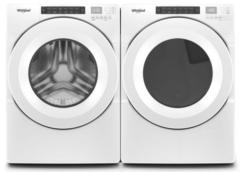 Product Photo Whirlpool Front Load Washer Dryer Loading Zoom