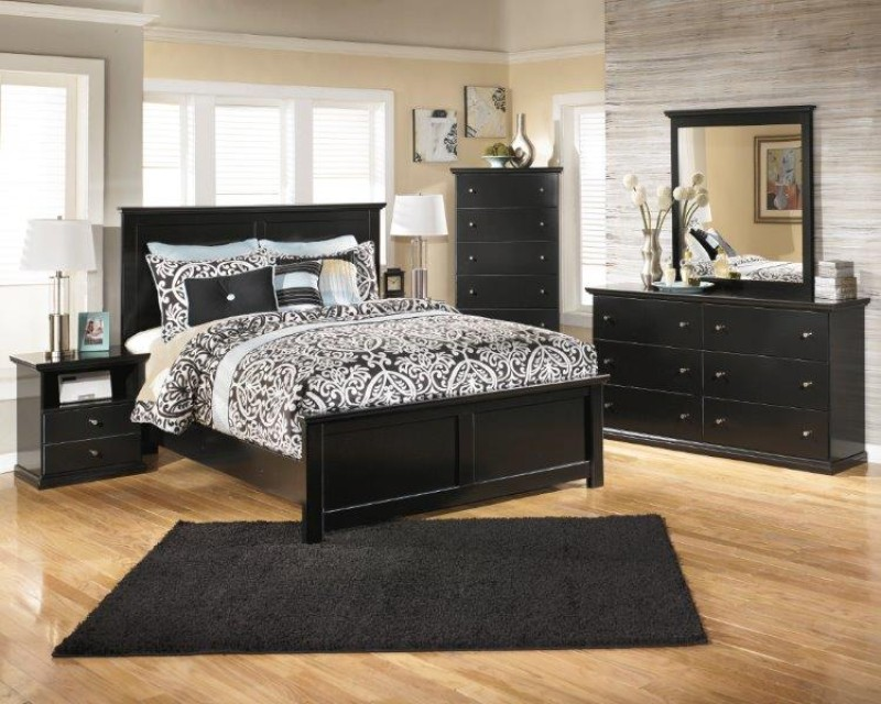 black wood bedroom furniture. Beautiful Furniture Product Photo MARIBEL PANEL 6PC BEDROOM Loading Zoom With Black Wood Bedroom Furniture Lease To Own Furniture Appliances Electronics And Computers From